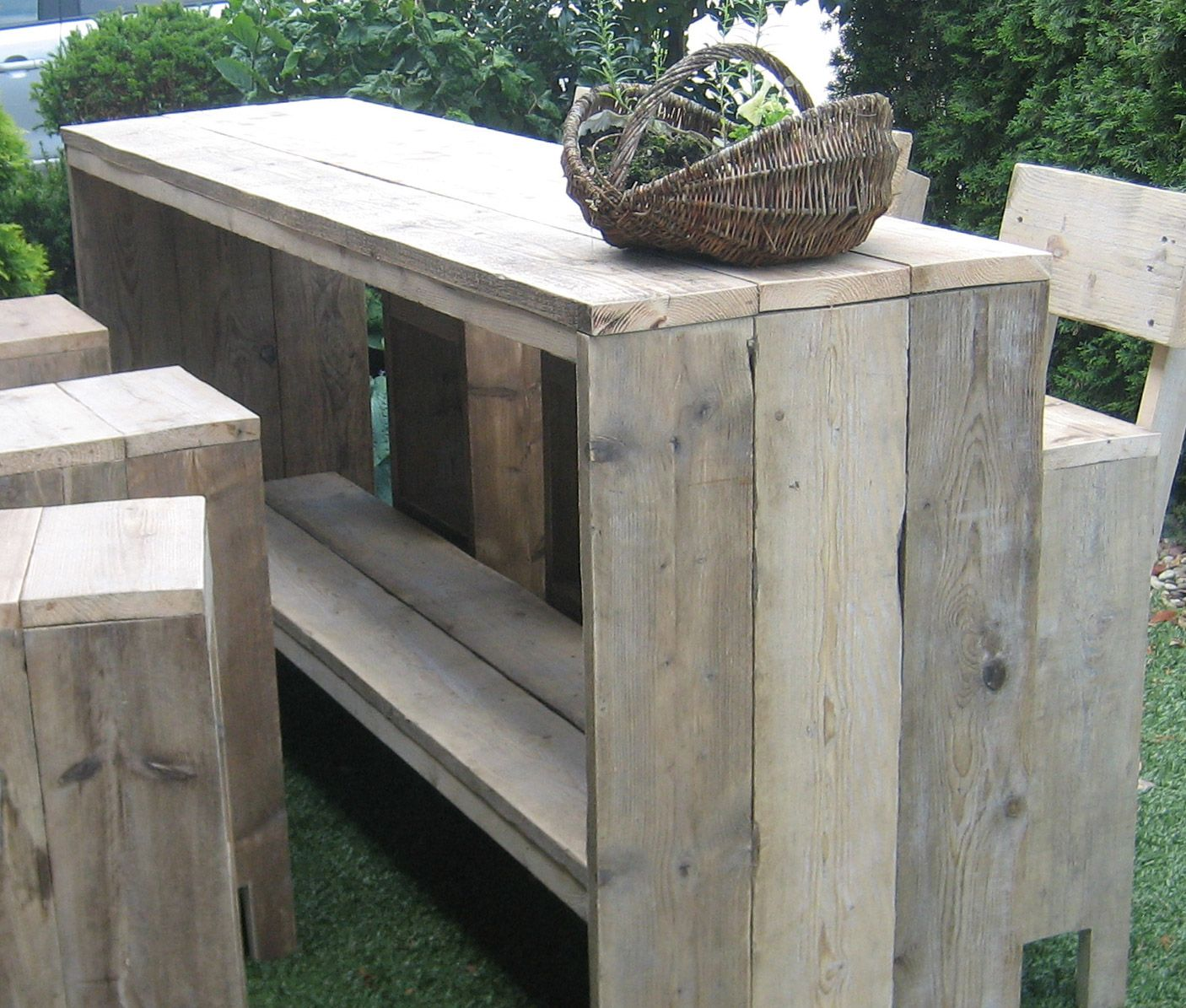 Product id bar tafel van steigerhout haaksbergen madera for Muebles de madera para patio