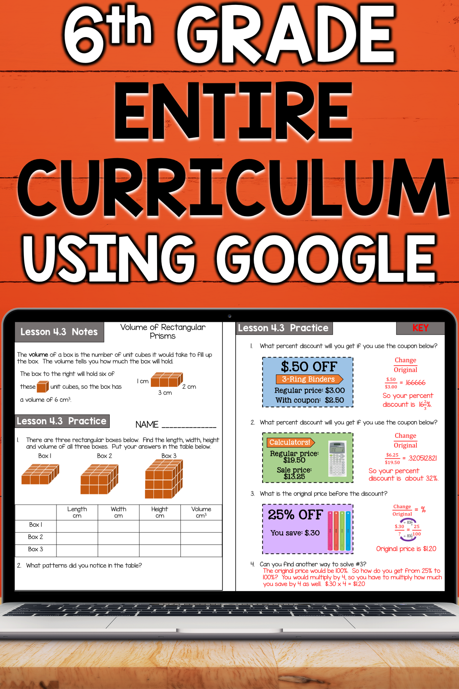 6th Grade Math Curriculum Bundle Common Core Aligned Using