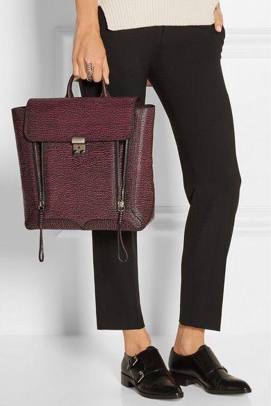 3.1 Phillip Lim Woman Pashli Textured-leather Backpack Dark Green Size 3.1 Phillip Lim oe18b7r5Y6