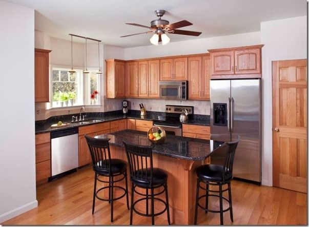 Monroe Bisque Restyling Home By Kelly Kitchen Black Counter Oak Kitchen Walnut Kitchen Cabinets