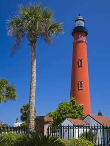 Photographic Print: Ponce Inlet Lighthouse, Daytona Beach Poster by Richard Cummins : 24x18in