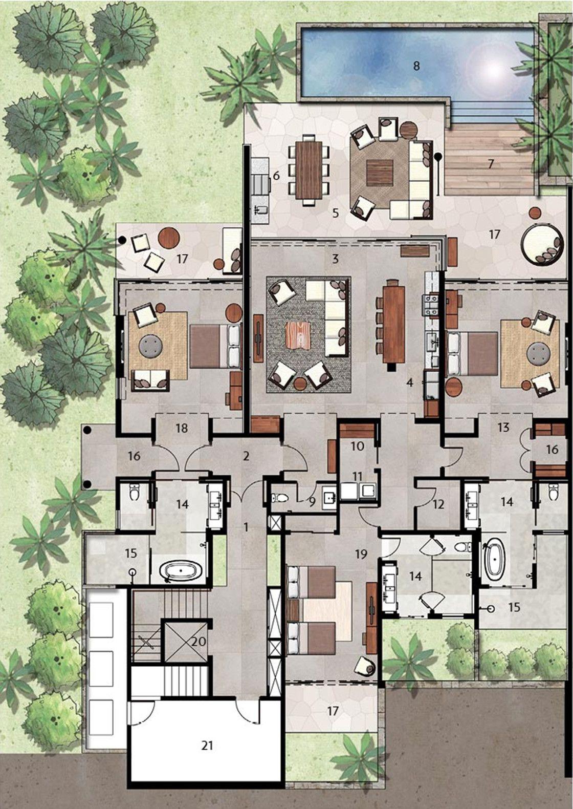 Luxury Villas Floor Plans Villa plan, Floor plans, Home