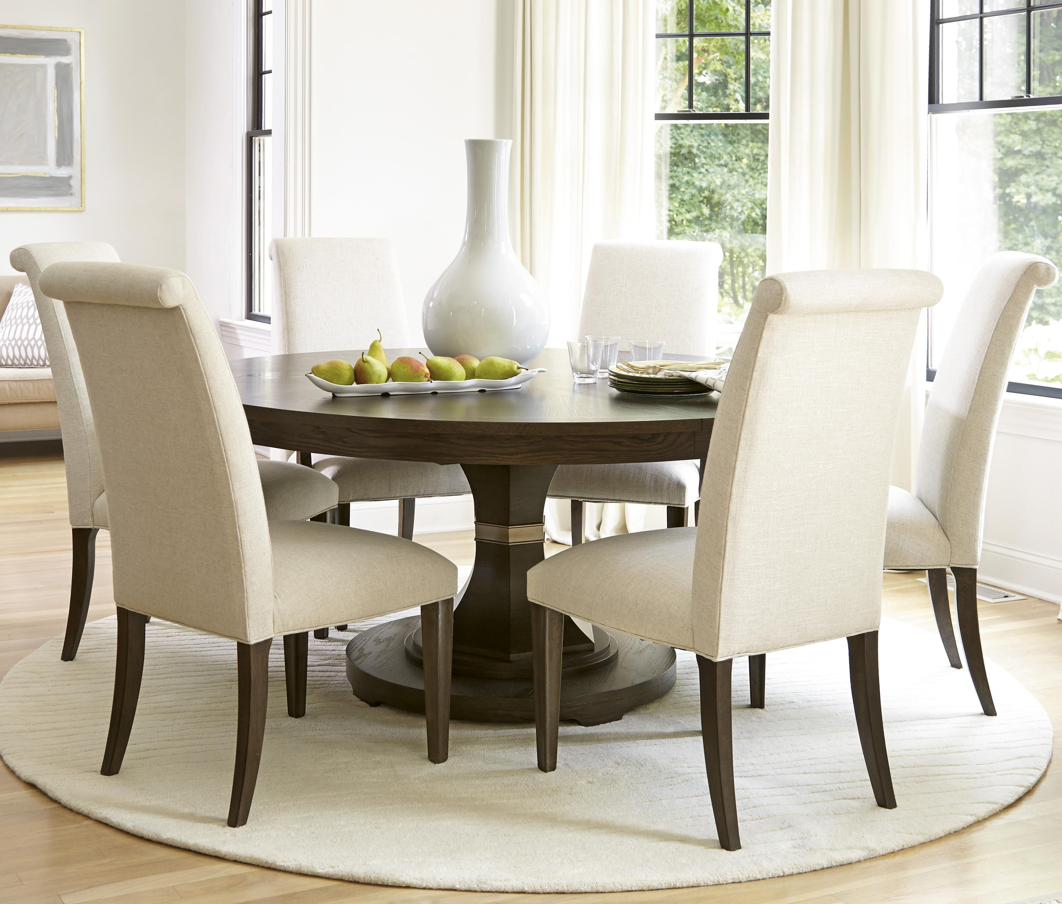 California  Hollywood Hills 7 Piece Dining Set With Round Table Alluring Universal Furniture Dining Room Set Design Ideas