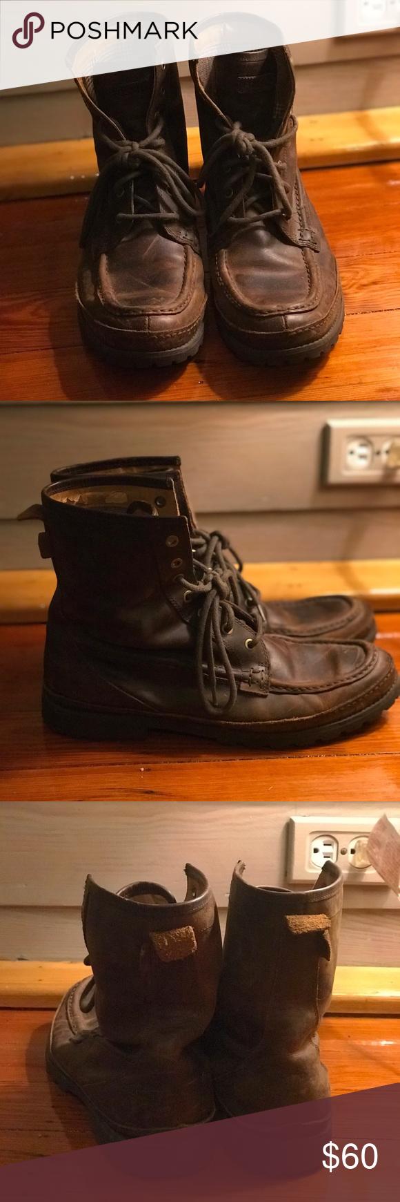 85a13483394 Fossil Welding Boots Fossil Welding boots. Heavy leather exterior ...