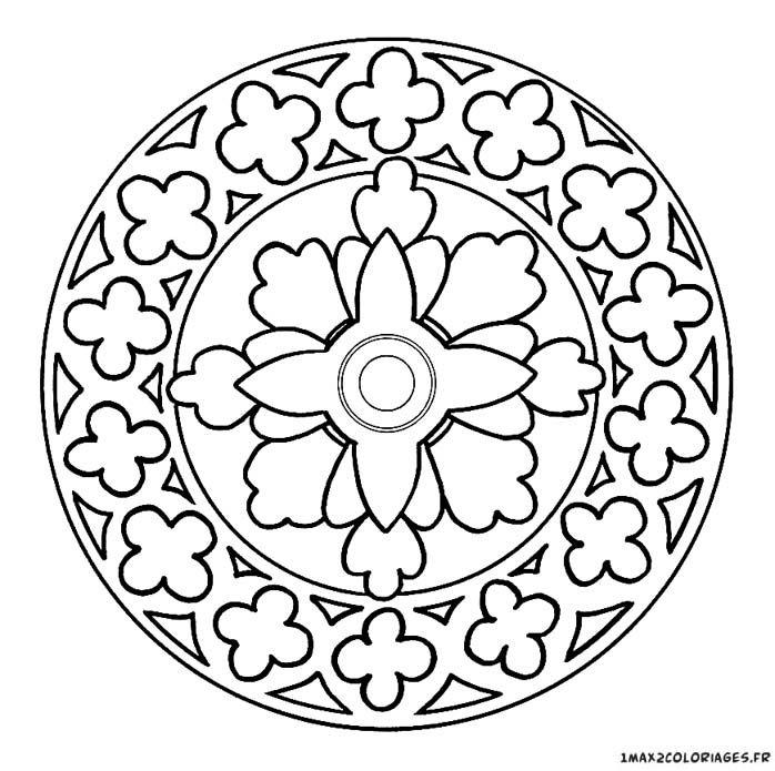 Coloriage Mandala Maternelle A Imprimer Gratuit.Coloriage Mandala Style Moyen Age Coloriage Mandala