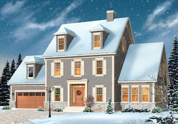 House Plan 76144 | Cape Cod Colonial Plan with 2786 Sq. Ft., 3 ...