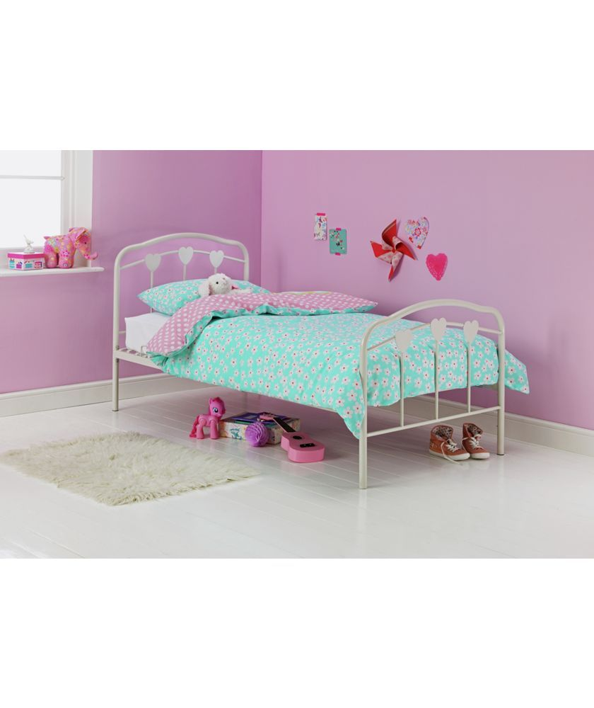 Buy Hearts Single Bed Frame