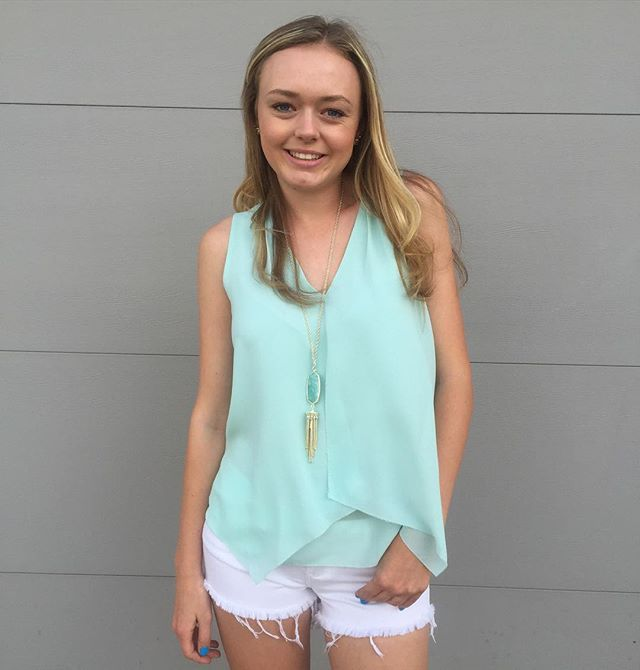 Love this top - style and color! Mint for you  #GraciesGirl