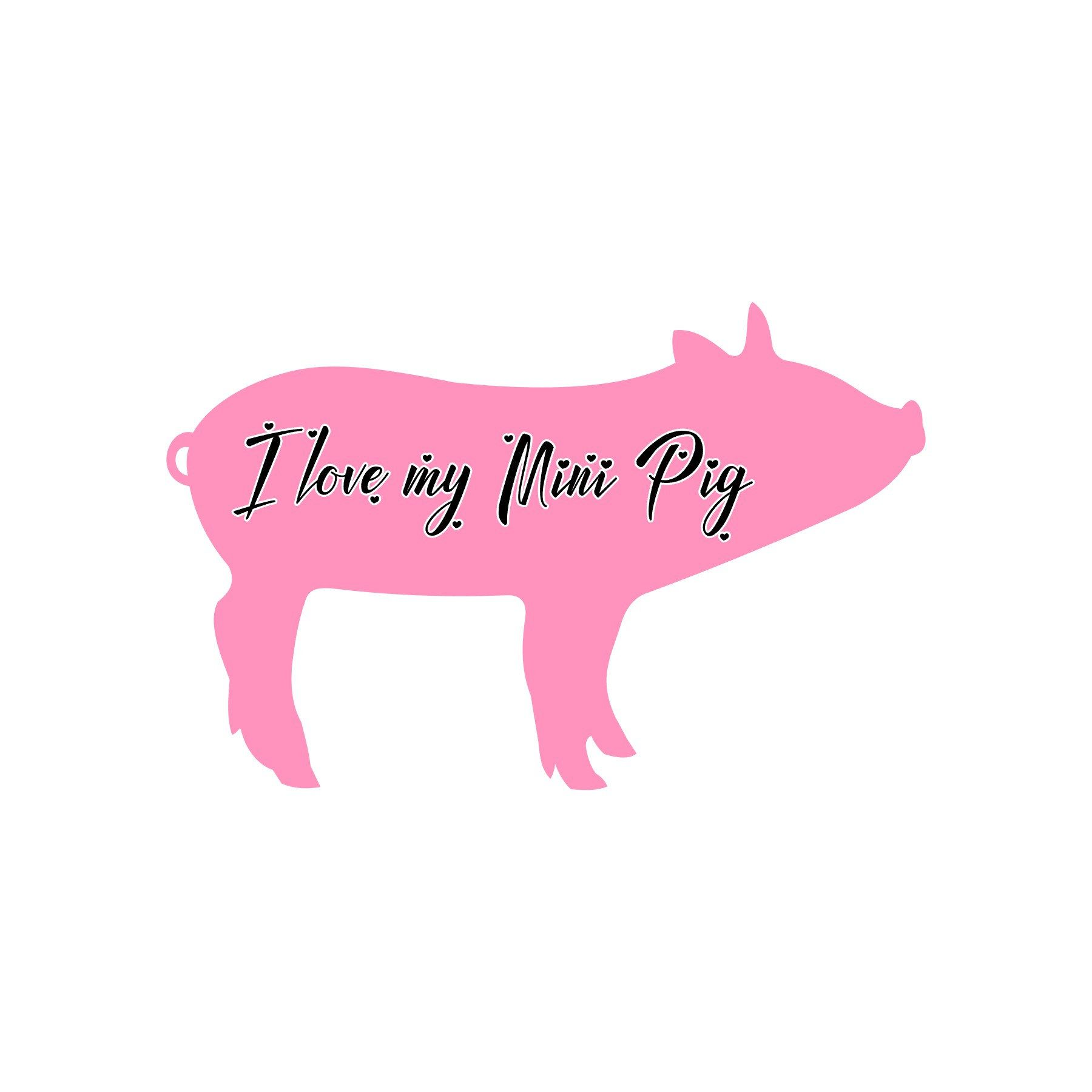 Show how much you love your mini pig mini pig decal