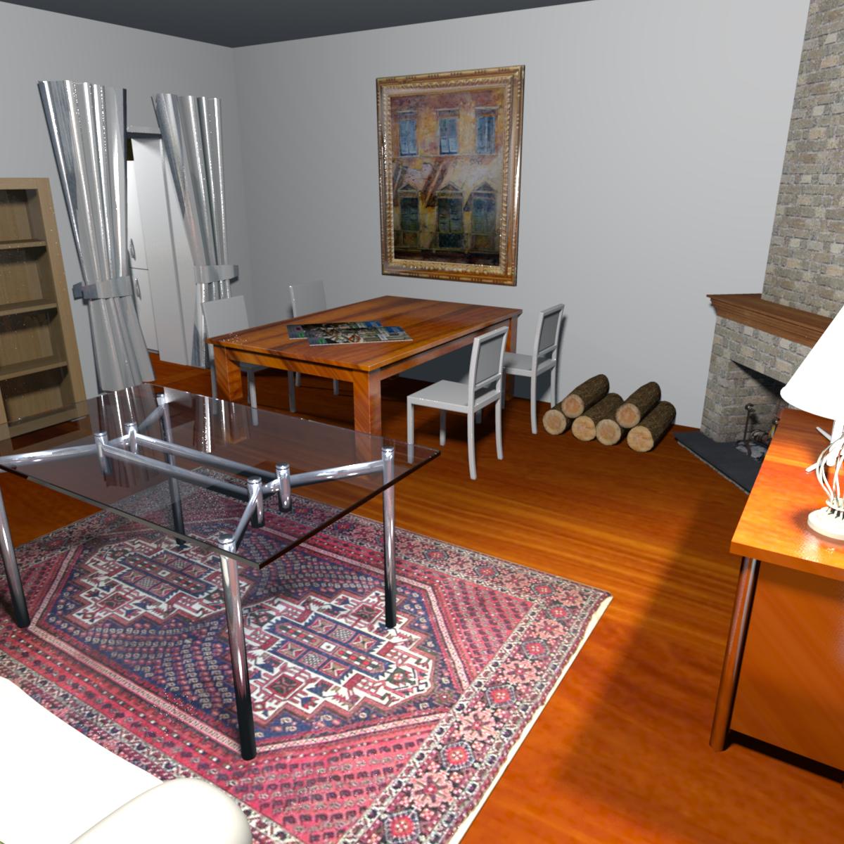 soggiorno casa di campagna Trebiano - Liguria - Italy | Rendering ...
