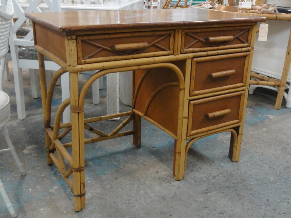 Old Florida Style Bamboo Desk