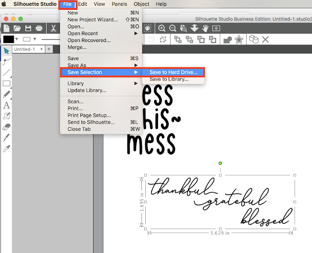 How to Save as SVG in Silhouette Studio (and JPEG and PDF