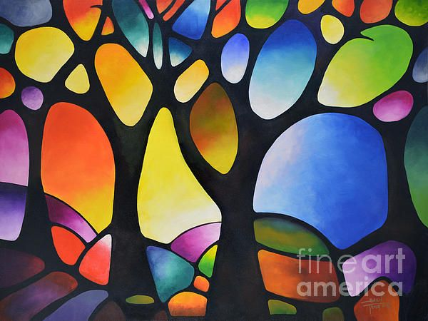 u0026quot sunset trees u0026quot  prints from my original painting on fine art america