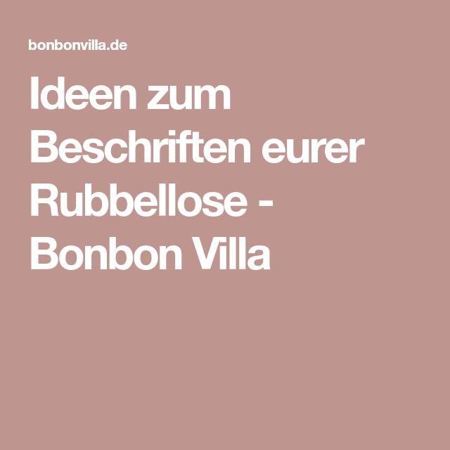Ideen Zum Beschriften Eurer Rubbellose Bonbon Villa Rubbellos Rubbeln Edding Spray