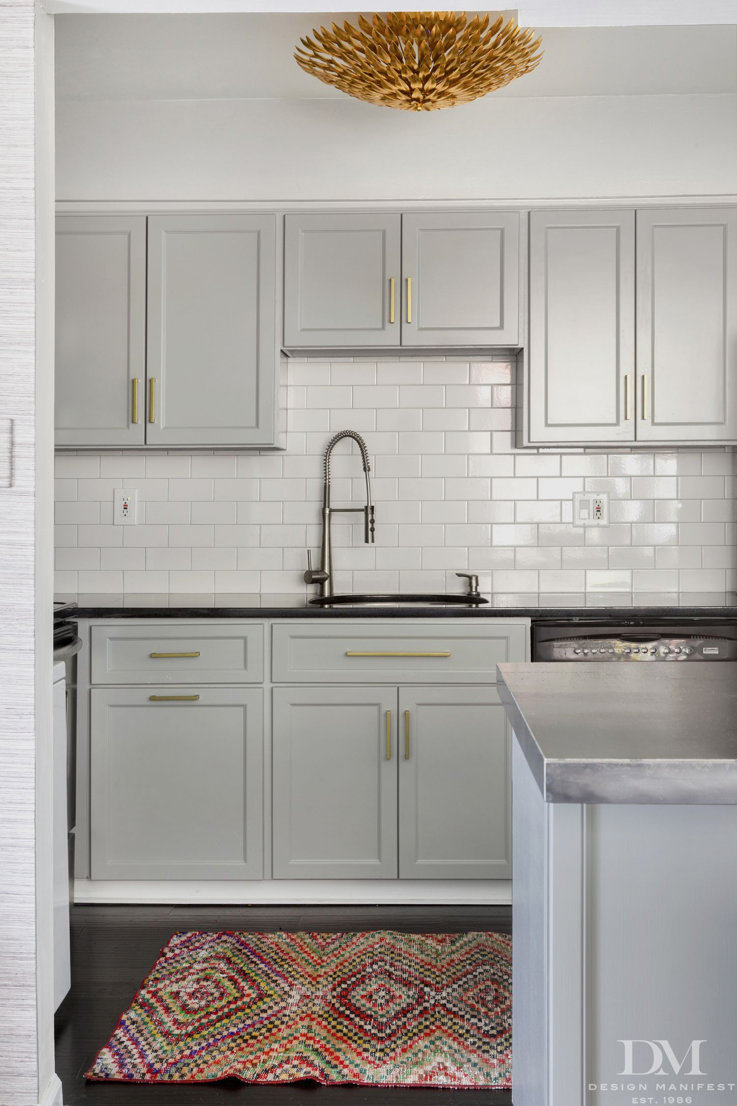 Light Grey Kitchen White Cabinets Crystorama Broche From Design Manifest  Brands Crystorama