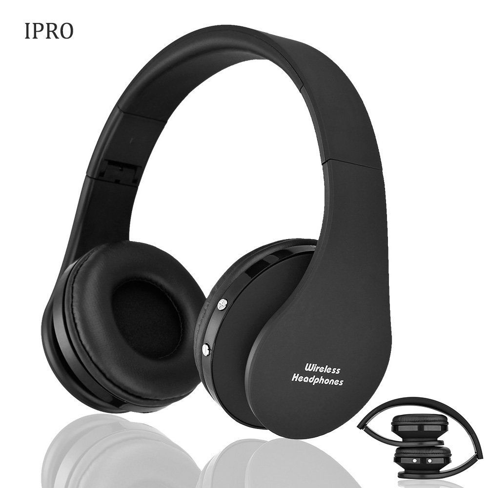 Foldable Wireless Bluetooth Over Ear Headphones with