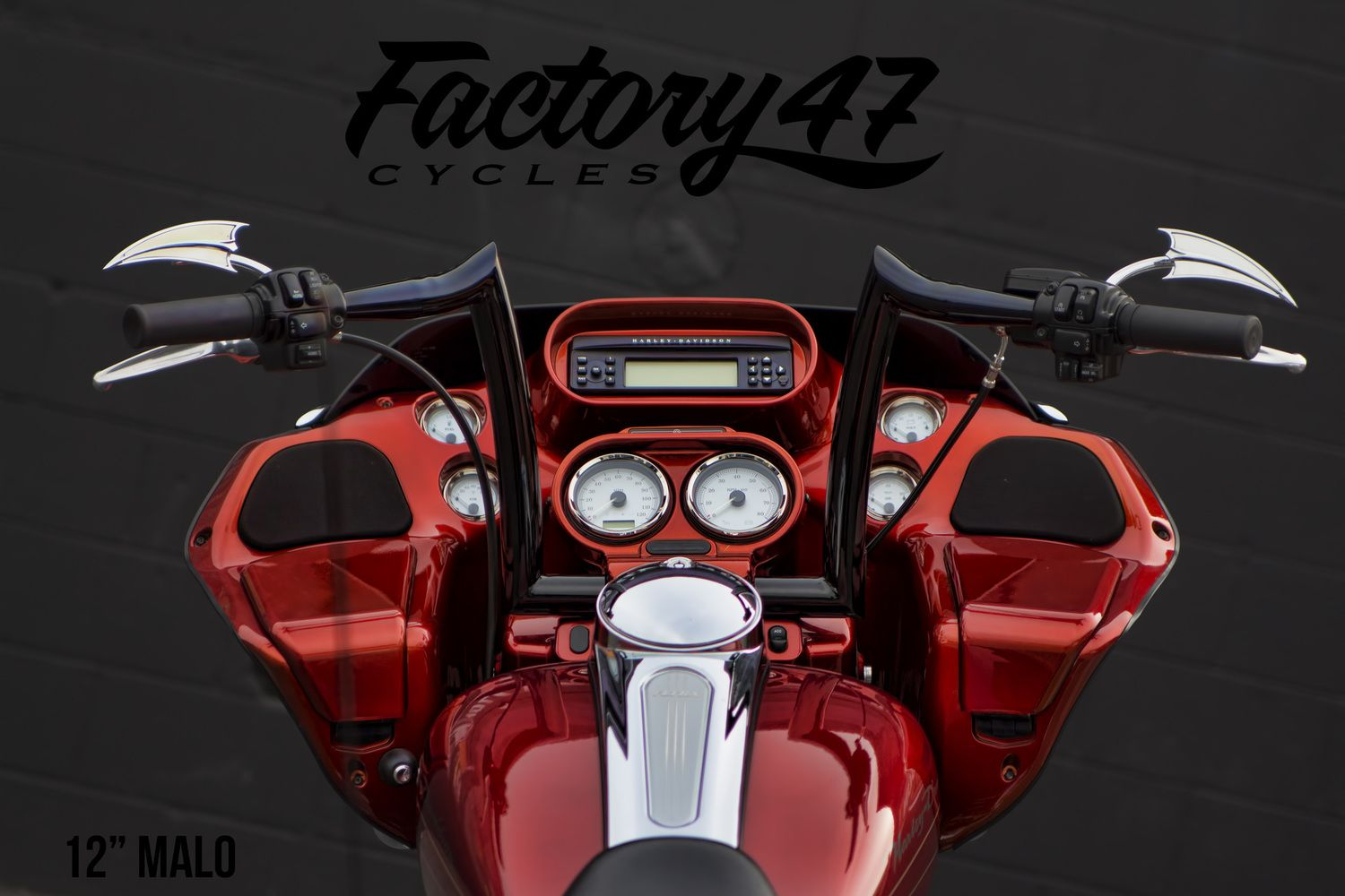 Malo Bars For Road Glide Factory 47 With Images Harley