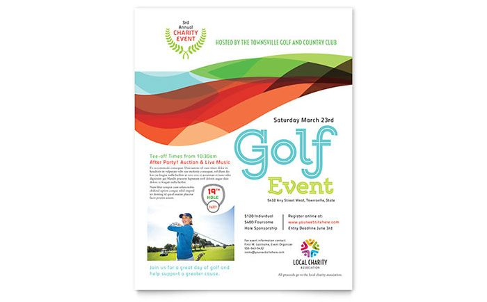 charity golf event flyer template design by stocklayouts