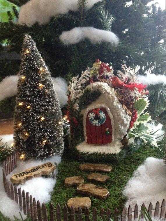 Fairy Garden house Christmas Fairy Winter by UnderTheMushroomCap, $135.00