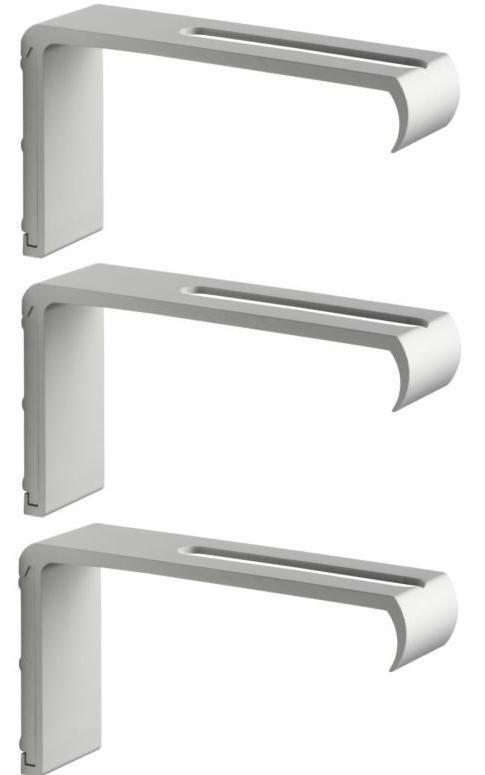 Anno Amorf Kvartal Curtain Panels Hung: 3 IKEA KVARTAL 5 ¾ Ceiling Curtain Rail Long Wall Hardware