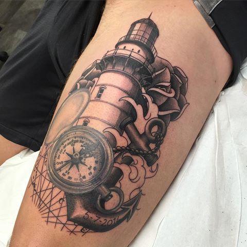 60a7b6600 Bildergebnis für sailor compass anchor tattoos | u - gene | Anchor ...