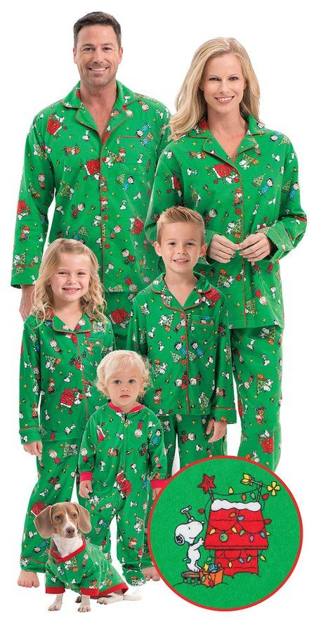 4b4987f3a0 Holiday Matching Family Pajamas    Charlie Brown Family Matching Christmas  Pajamas