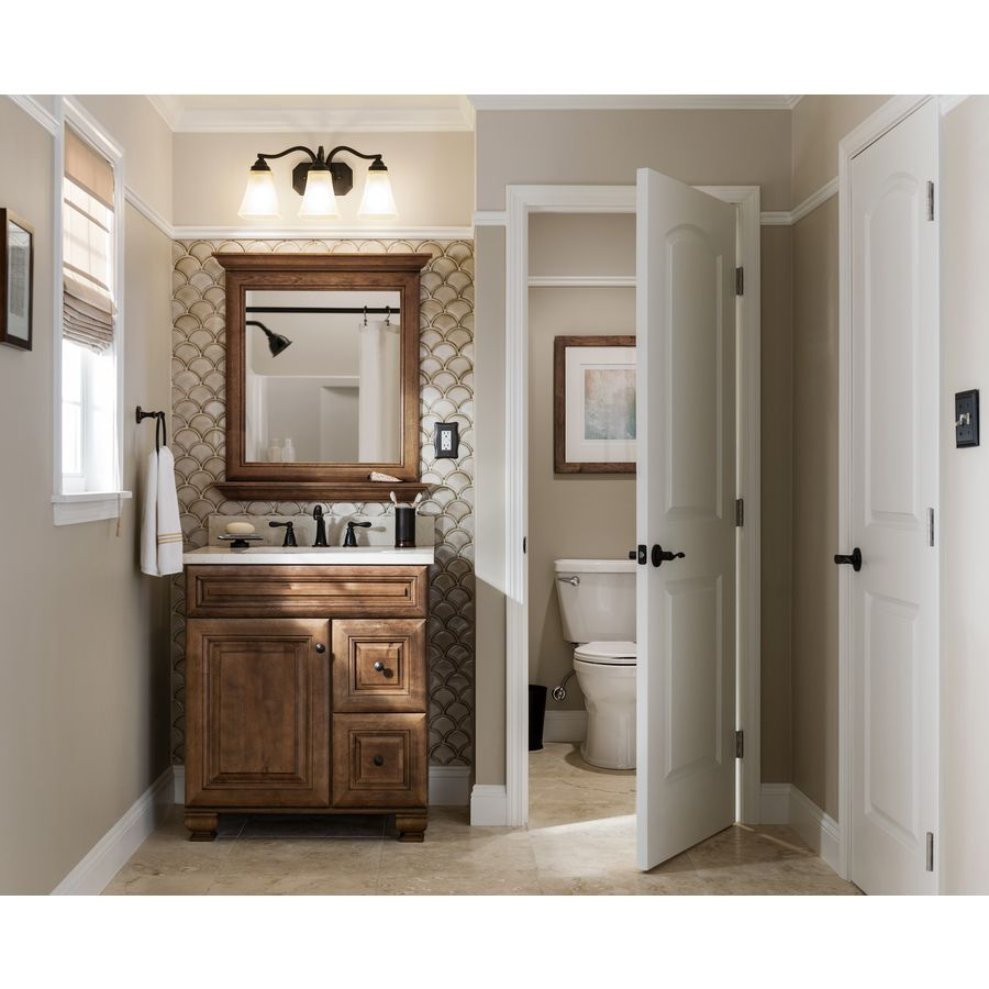 Shop Diamond FreshFit Ballantyne Freestanding Mocha With Ebony Glaze Bathroom  Vanity (Common: 30 In X 21 In; Actual