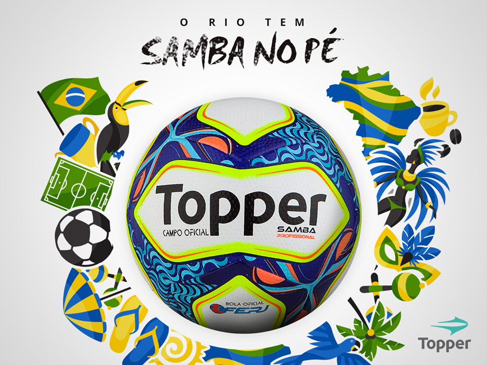 49e5bcdfc2cb4 Samba  Bola oficial do Campeonato Carioca 2017