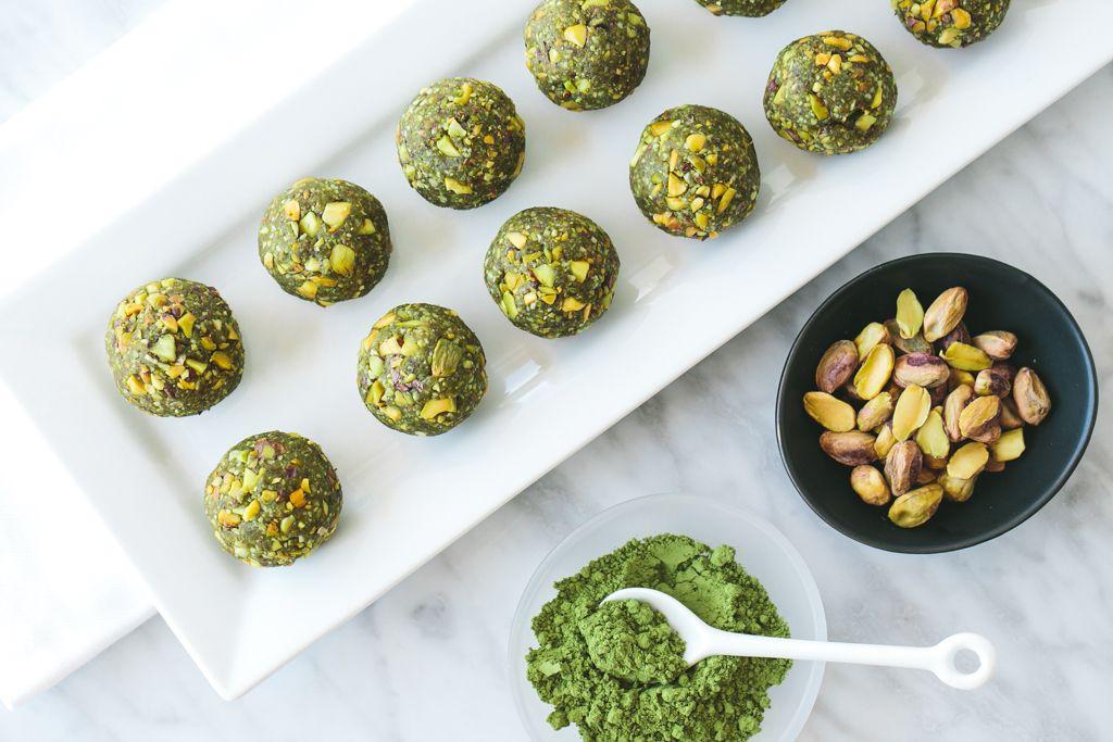 Matcha Pistachio Bliss Balls Recipe Food Bliss Balls Balls