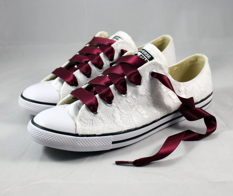 09de9baaf8bf3 Burgundy Converses --Lace Wedding Converse -- Wedding Tennis shoes ...