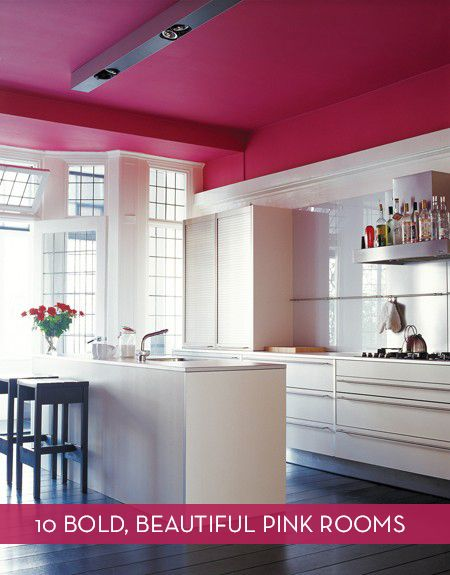 Ten bold rooms that use the color pink as a major element.
