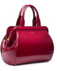 c022bc9f29 Lulu Guinness Garnet Red Polished Leather Mid Paula red - Lyst ...