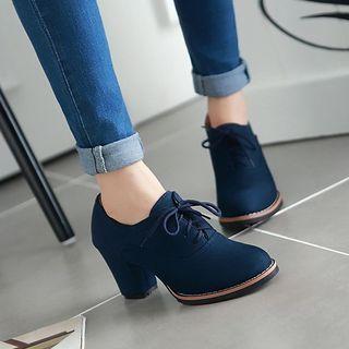 Pangmama Chunky Heel Oxfords | YesStyle