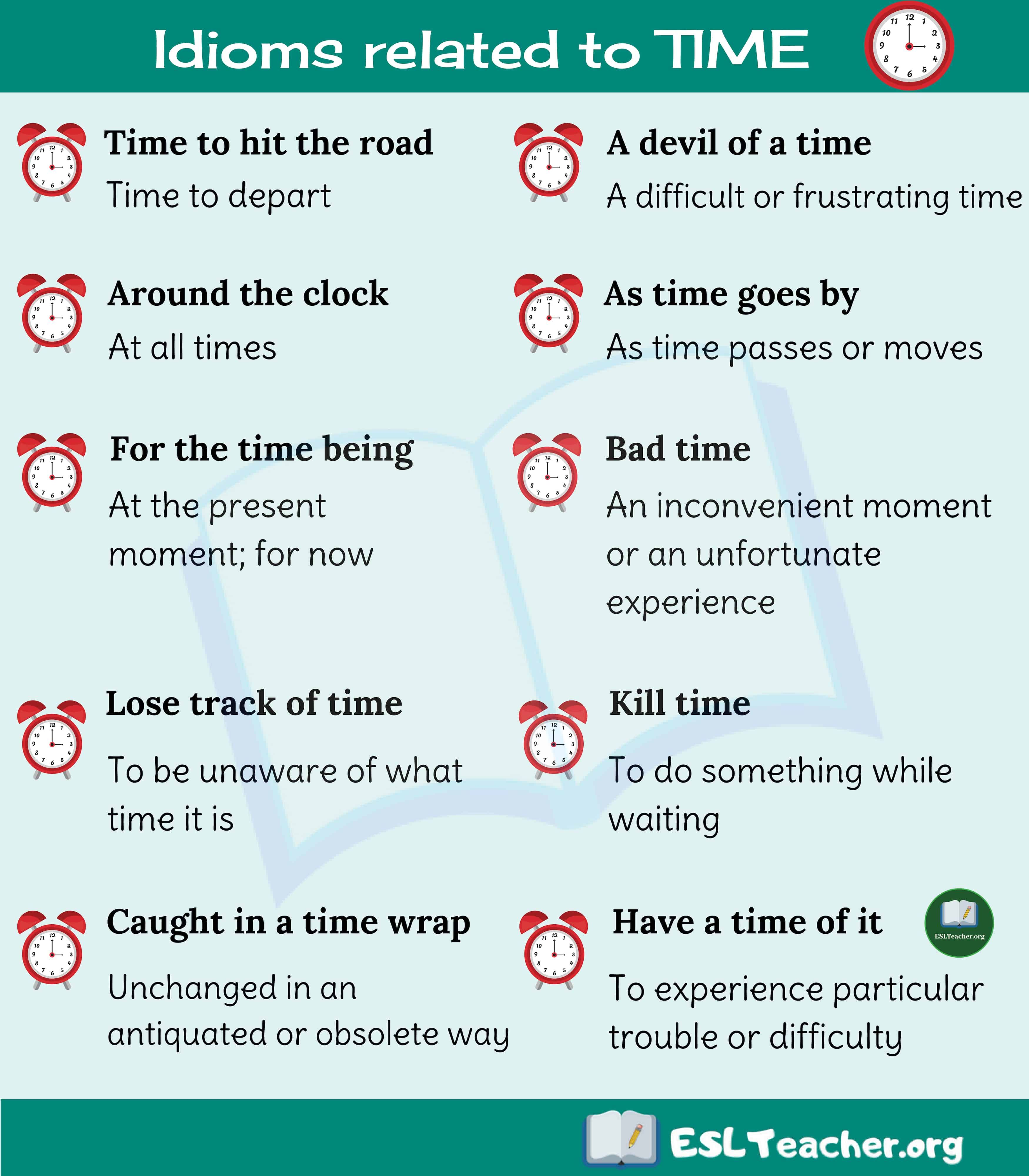 Time Idioms 10 Useful Idioms About Time In English