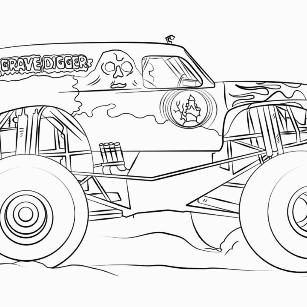 Grave Digger Coloring Pages Gravediggercoloringpages Gravediggercoloringpagestoprint Gravediggermonstertruckcolorin Coloring Pages Drawing Sheet Sunset Art