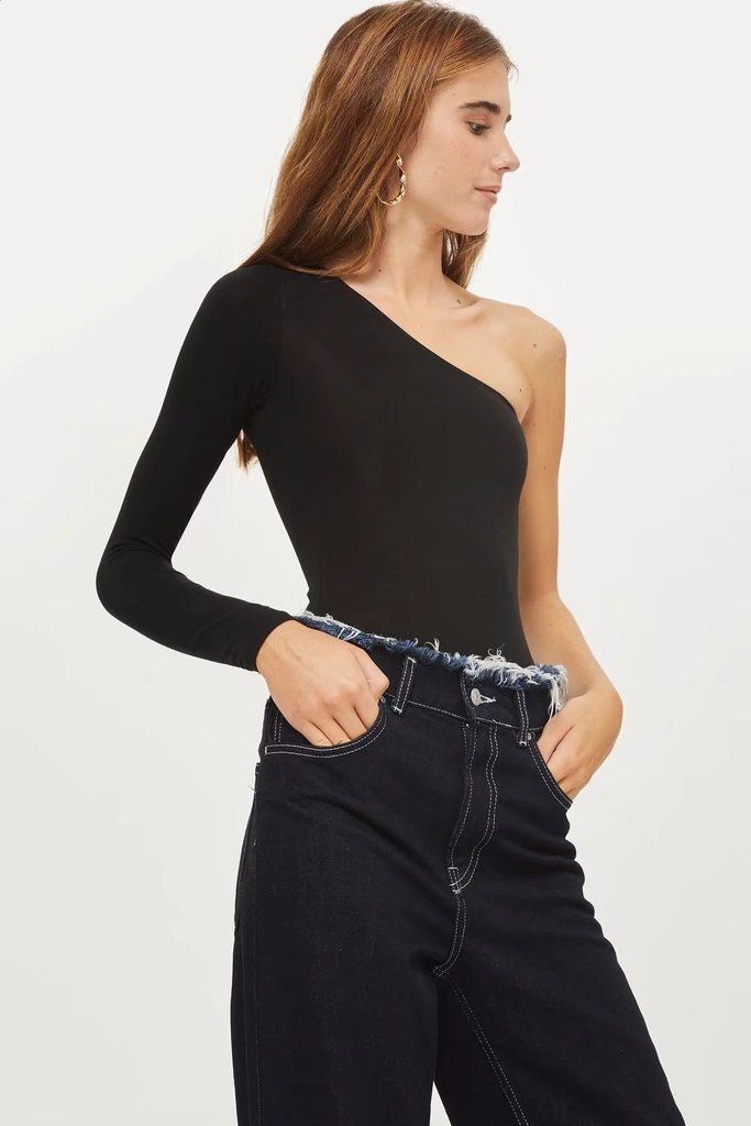 One Side Shoulder Bodysuit Top – Lupsona   Lupsona TOP   Bodysuit ... 377cd835322