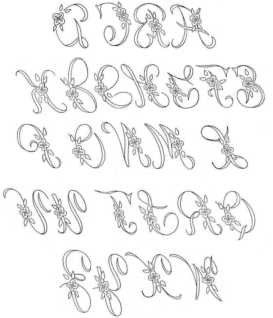 WB monograms alphabet | Diseños para bordar y Bordado