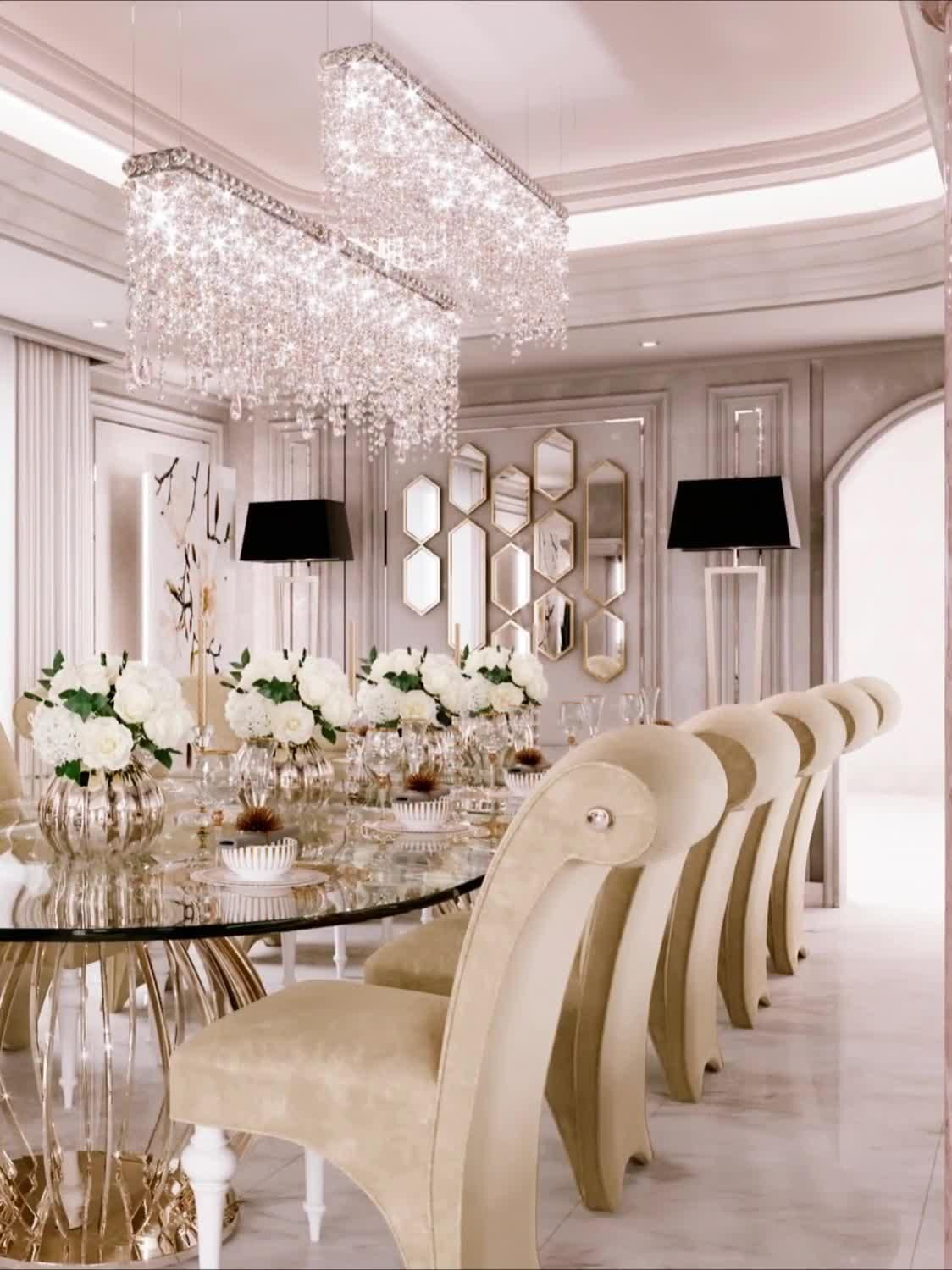 Photo of Contemporary main dining room interiors videos by Spazio designers