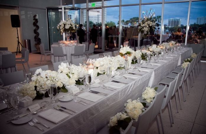 Tables set for wedding at Tampa Museum of Art | Weddings and Parties ...