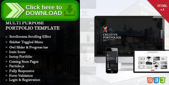 Company Portfolio Template Inspiration Free Nulled Jl Portfolio  Creative Company Portfolio Responsive .