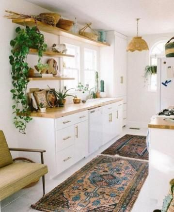 35 Awesome Bohemian Home Decor - Living Room, Bedroom, Kitchen & Wall Decor - homelovers -  chic boho kitchen style  - #awesome #Bedroom #bohemian #Decor #Home #homelovers #Kitchen #Living #Room #Wall