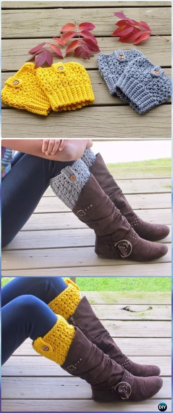 Crochet Boot Cuffs & Toppers Free Patterns & Tutorials #bootcuffs