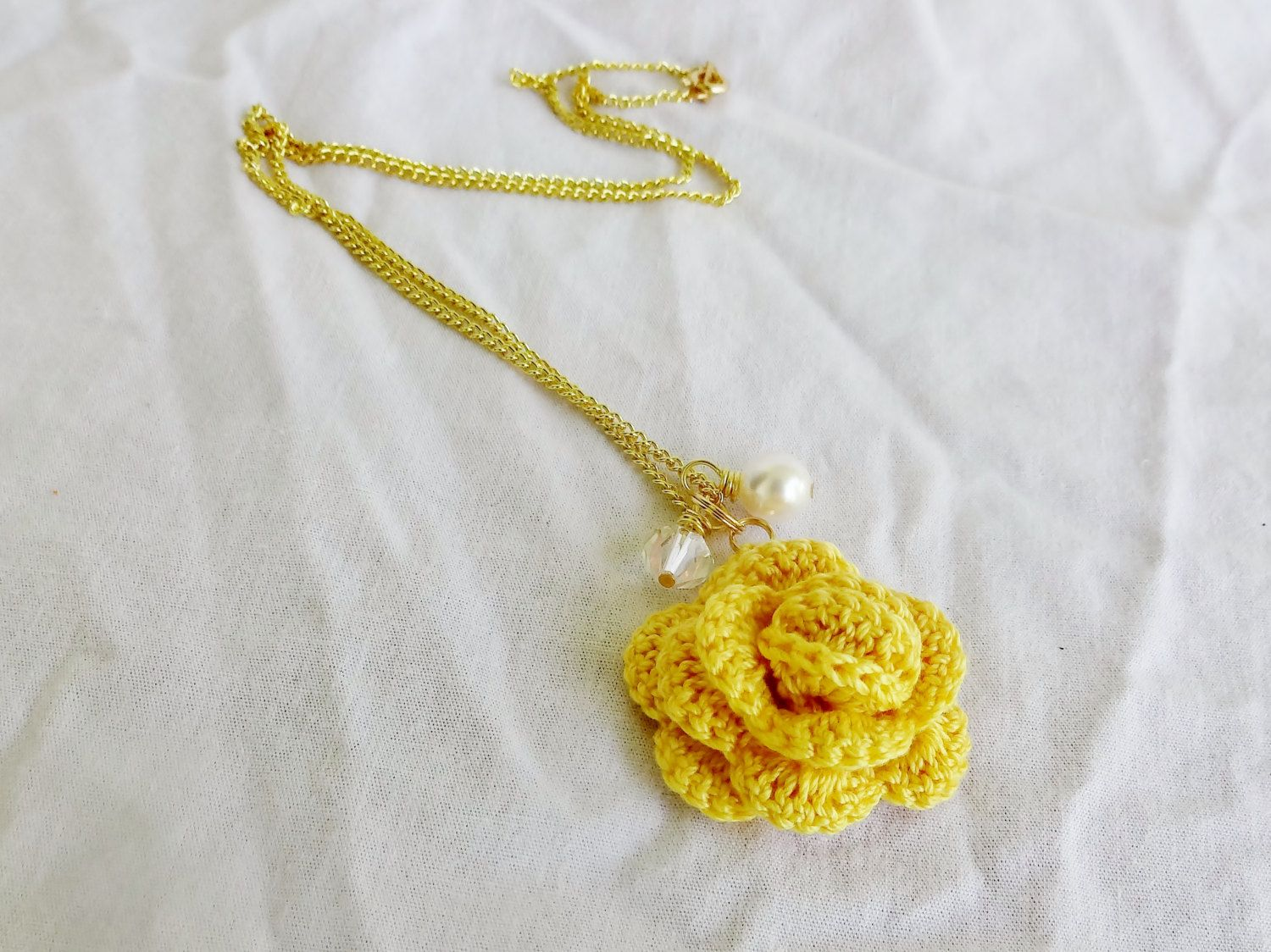 Yellow Rose Necklace Unique Anniversary Gifts For Wife Yellow
