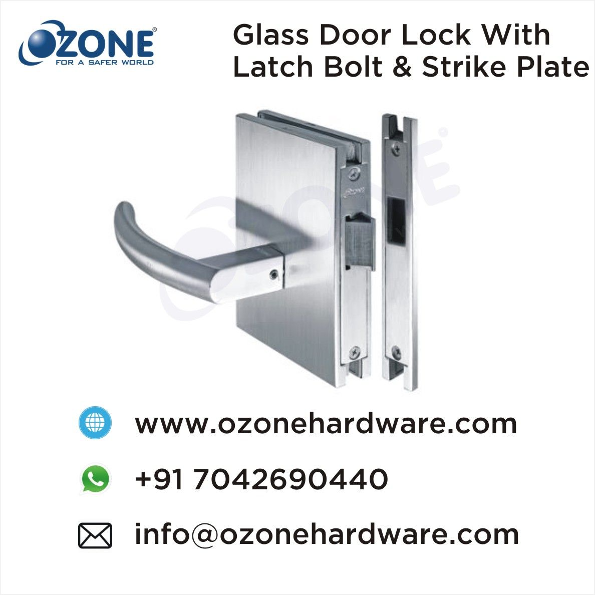 Glass Door Lock With Latch Bolt Strike Plate Stainless Steel Locks For Glassdoors Glassdoor Locks Door Lock Glass Door Lock Glass Door Latches