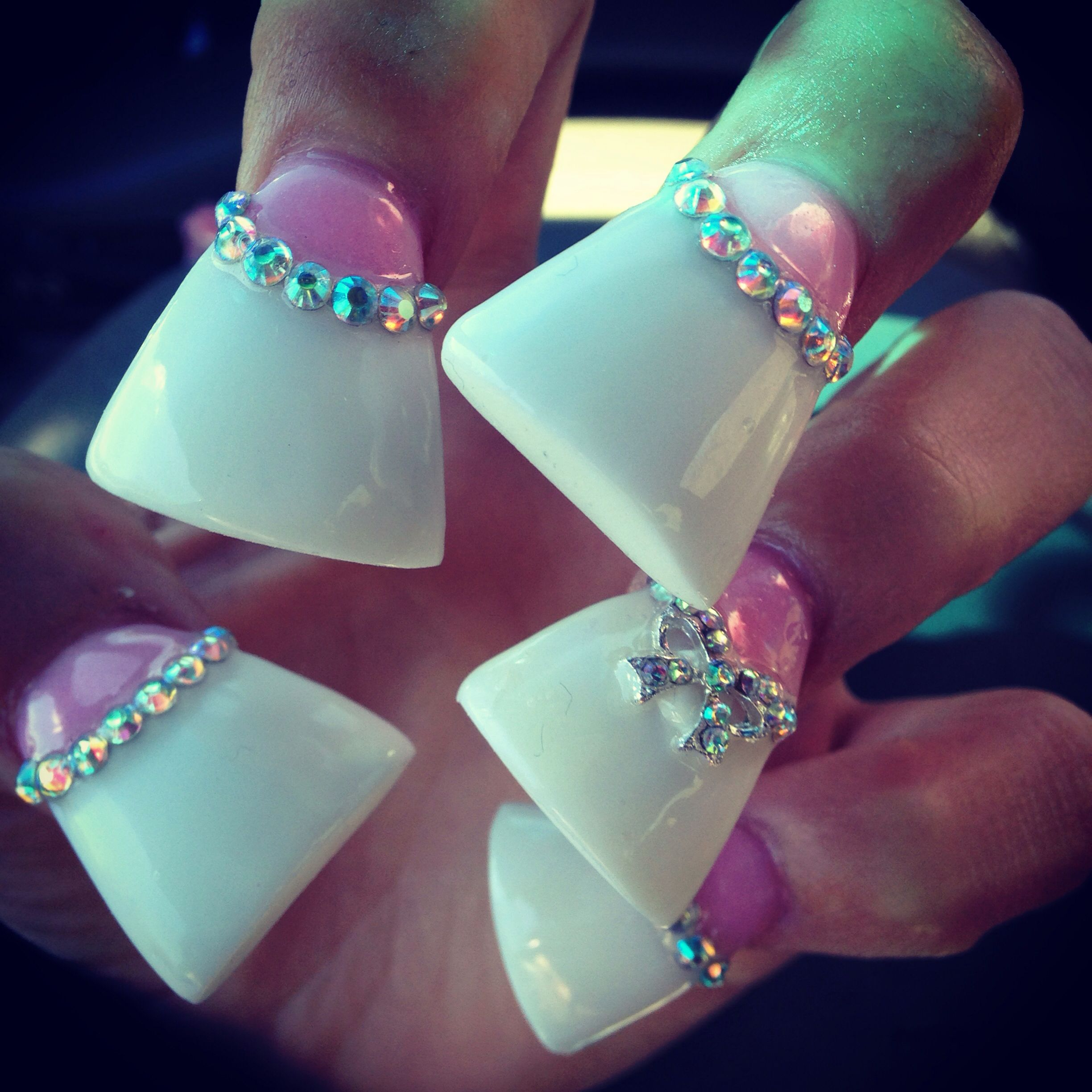 These duckfeet nails are really big but I like the colors   nails ...