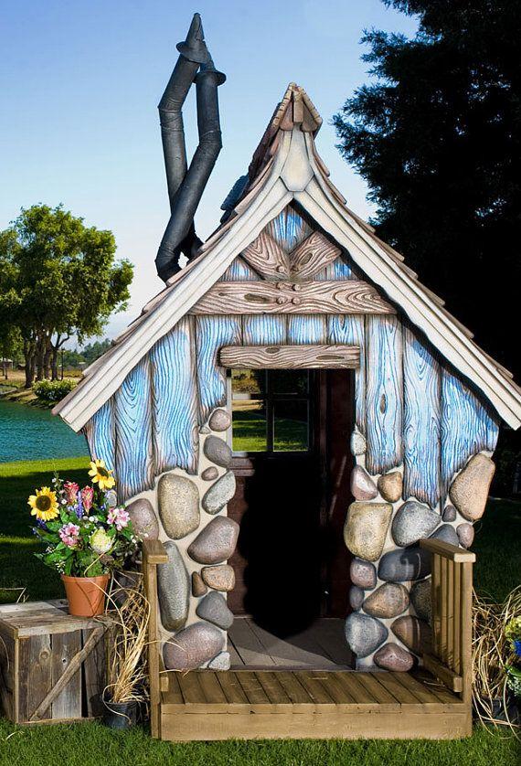 Huck\u0027s Hideout Playhouse Casitas, Casas y Cabañas - casitas de jardin para nios