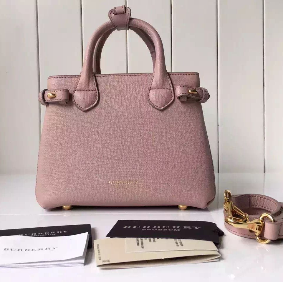 29bc378fc35f Burberry Baby Banner Bag In Leather And House Check Pink Wallet Sale