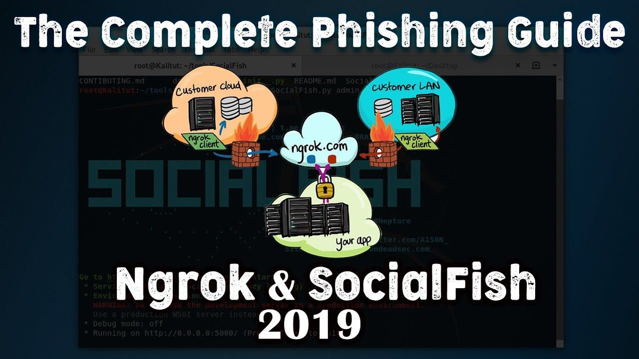 Today we look at Ngrok & SocialFish for the best phishing attack