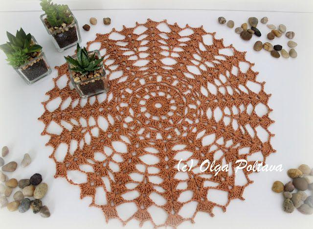 Beginner\'s doily, free crochet pattern, size 3 crochet cotton thread ...