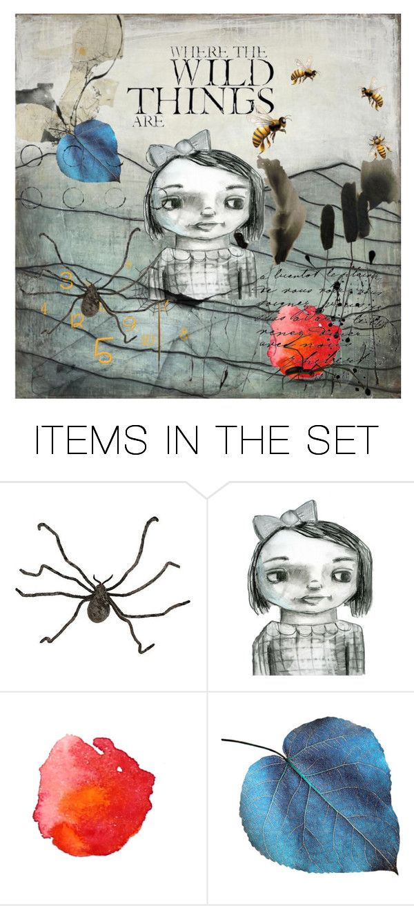 """Wild Things"" by jill-bh ❤ liked on Polyvore featuring art"